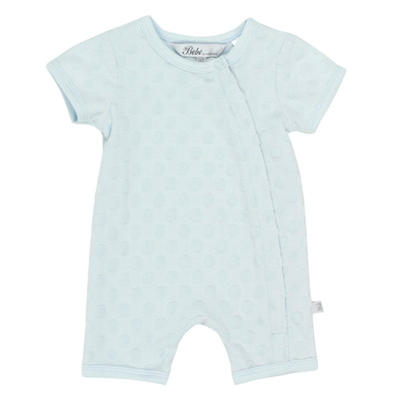 Bebe - Spot Layette Short Sleeve Romper - Blue
