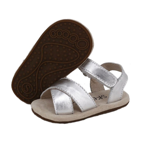 Skeanie Pre Walker Cross Leather Sandals