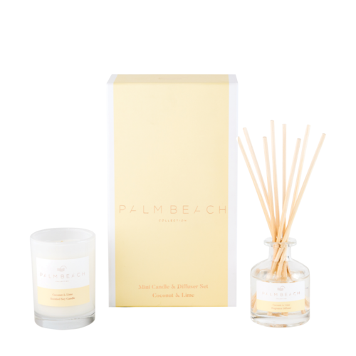 Palm Beach Coconut & Lime Mini Candle & Diffuser Pack