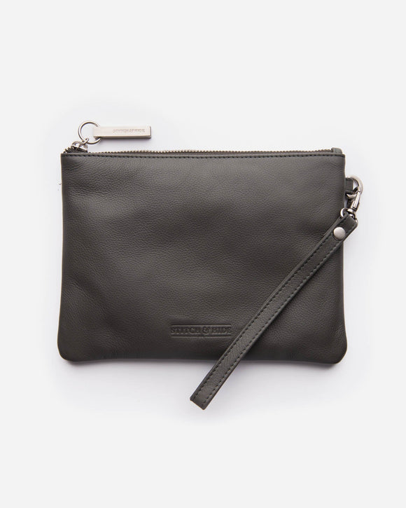 Stitch and Hide - Cassie Clutch - Charcoal