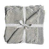 Alimrose - Scallop Edge Knit Baby Blanket - Grey