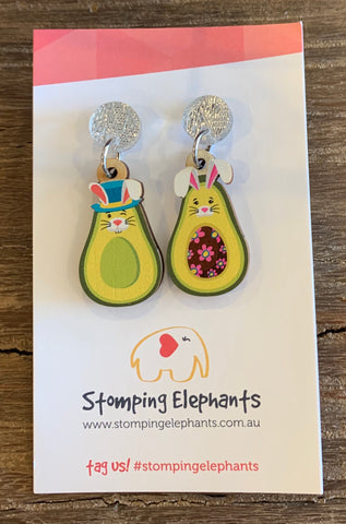 Avocado Easter Earrings