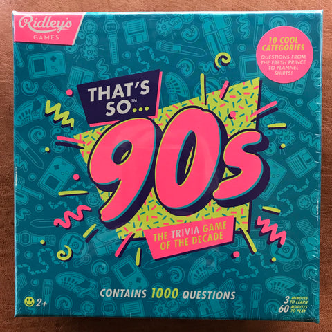 Thats So 90's Trivia Game