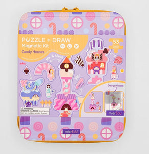 Puzzle & Draw Magnetic Kit - Candy House