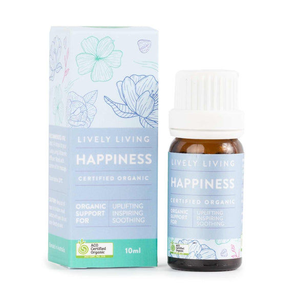 Lively Living Essential Oil - Happiness Organic 10mls