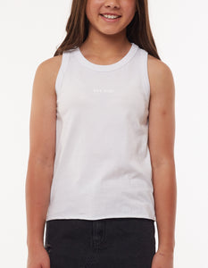 Eve Girl - Washed Tank - White