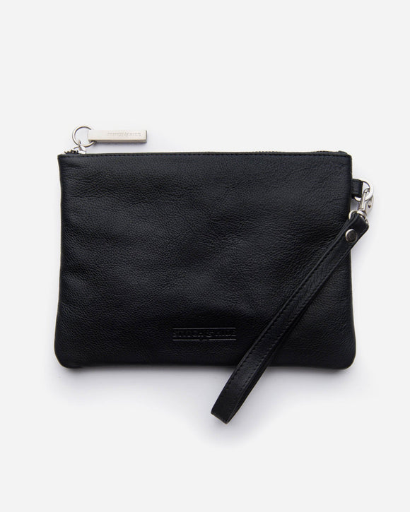 Stitch and Hide - Cassie Clutch - Black
