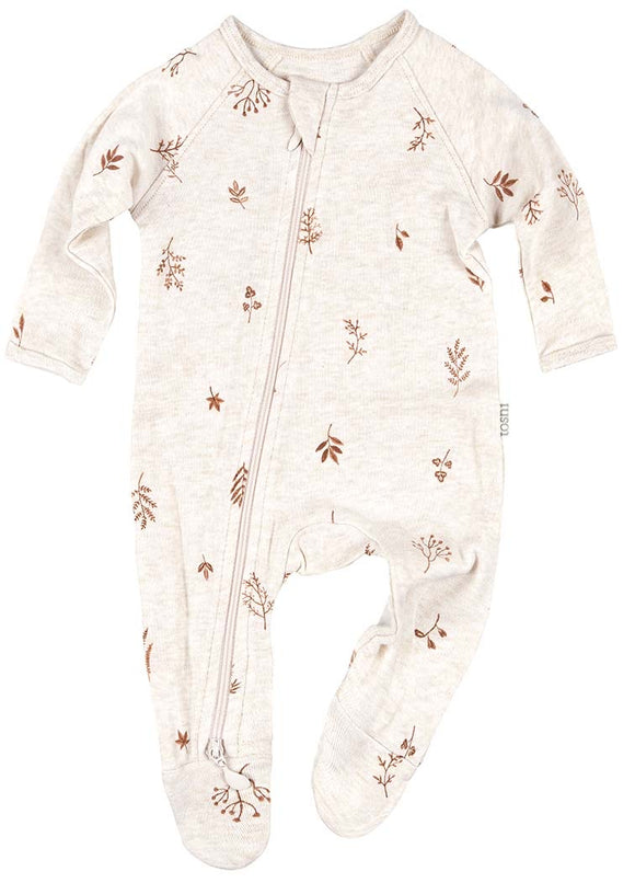 Toshi - Long Sleeve Onesie - Maple