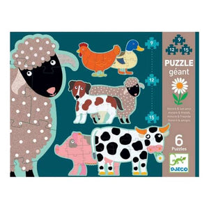 Djeco Puzzle - Honore & Friends - 6 Puzzles