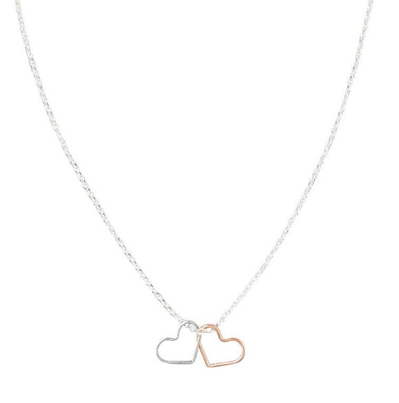 Mixed Double Heart Necklace