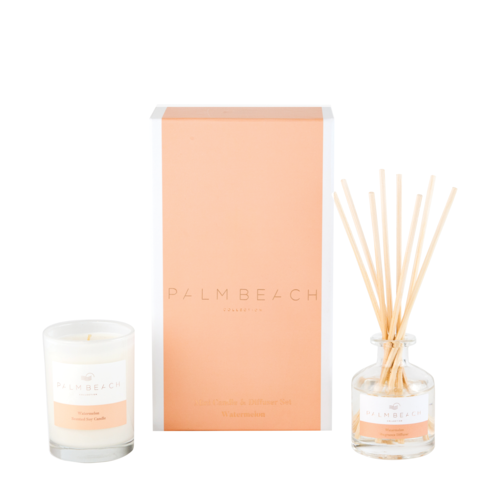 Palm Beach Watermelon Mini Candle & Diffuser Pack