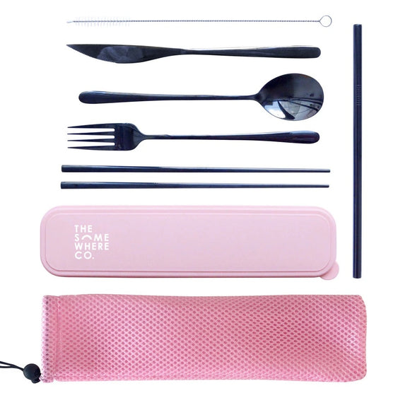The Somewhere Co - Take Me Away Cutlery Set - Pink