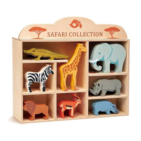 Safari Animal Wooden Set