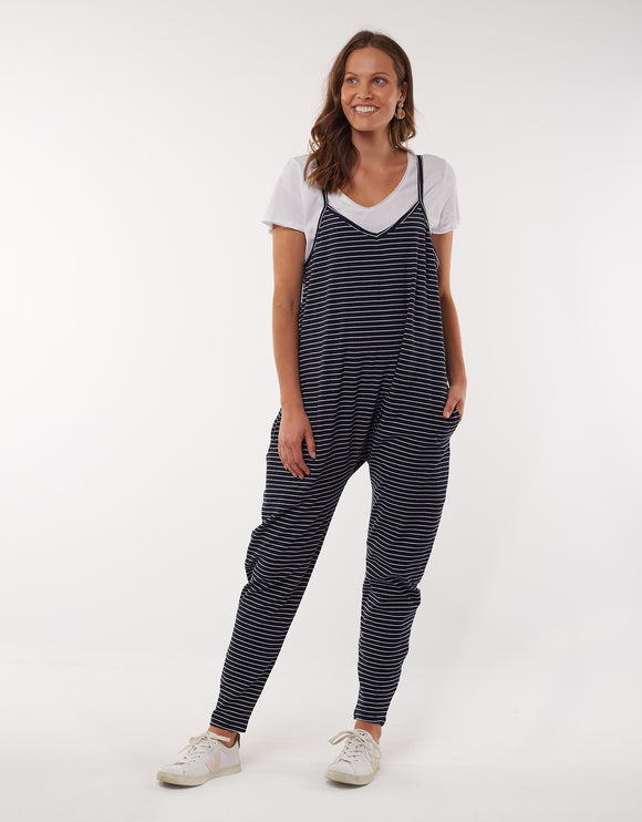 Elm - Harriet Stripe Jumpsuit - Navy & White Stripe
