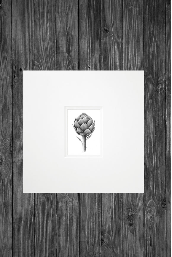 Cathy Hamilton Artworks - Mini Print - Artichoke