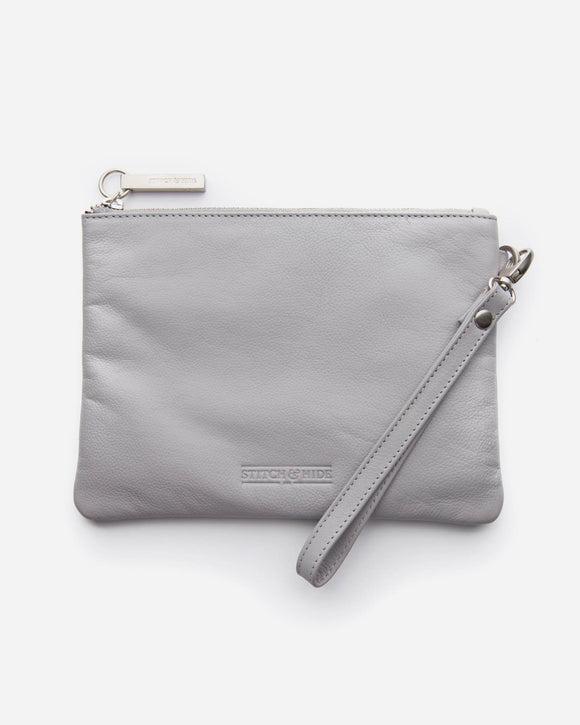 Stitch and Hide - Cassie Clutch - Misty Grey