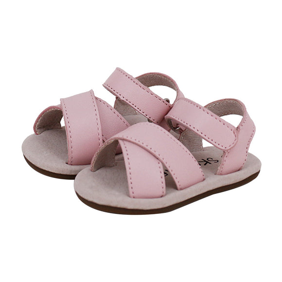 Skeanie - Pre Walker Cross Leather Sandals - Pink