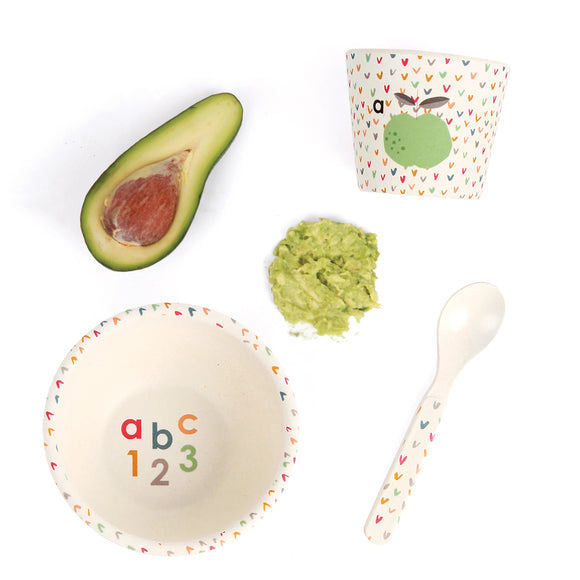 Love Mae - Baby Feeding Bamboo Dinnerware Set - ABC