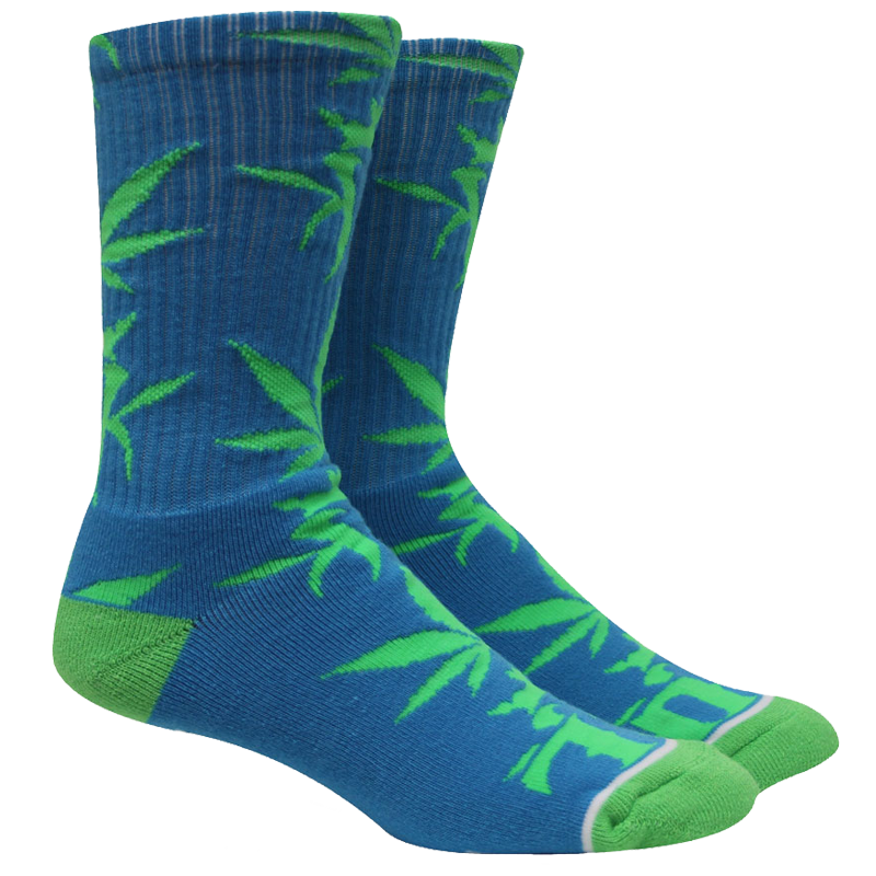 Kottonmouth Kings Weed Leaf Socks (Blue & Green)