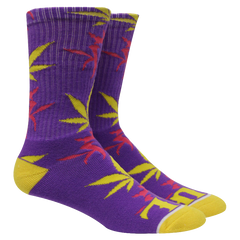 Kottonmouth Kings Weed Leaf Socks (Purple & Yellow)