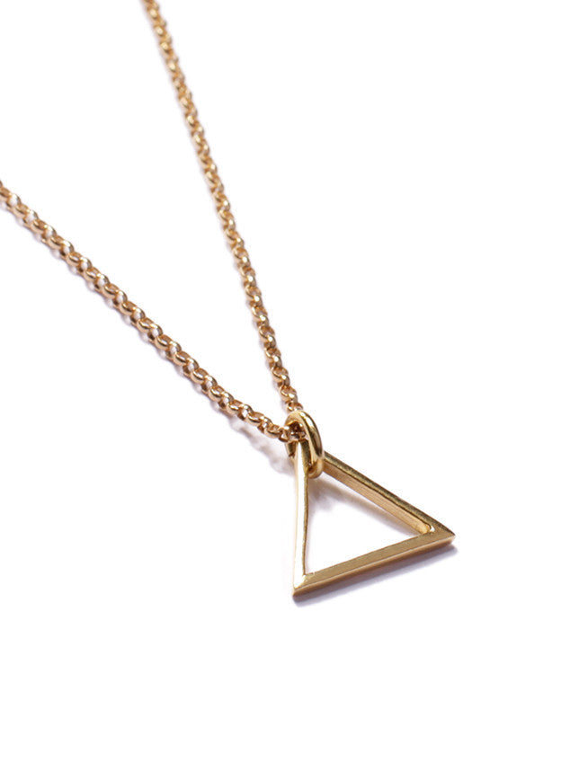 GOLD TRIANGLE NECKLACE - SOVAJ - 3