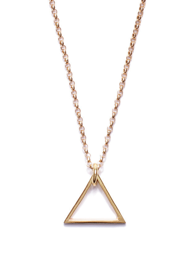 GOLD TRIANGLE NECKLACE - SOVAJ - 1