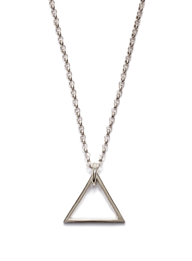 STERLING SILVER TRIANGLE NECKLACE - SOVAJ - 1