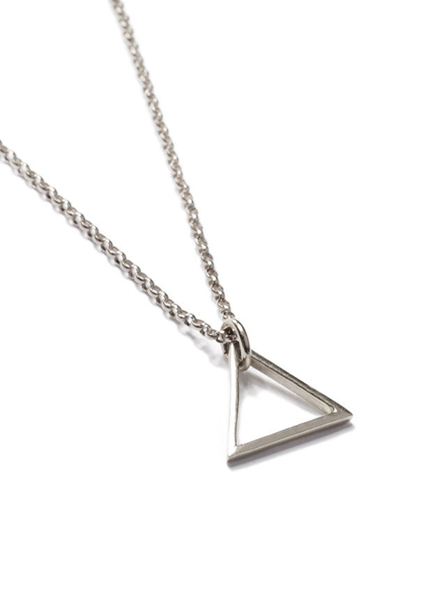 STERLING SILVER TRIANGLE NECKLACE - SOVAJ - 2