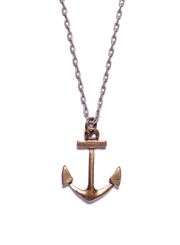 BRONZE ANCHOR NECKLACE - SOVAJ - 1