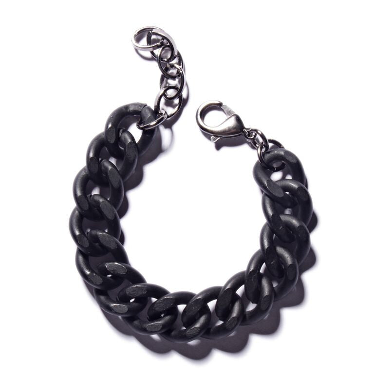 THICK BLACK CHAIN BRACELET - SOVAJ - 1