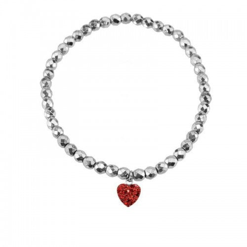 Herspirit Beaded Red Heart Bracelet