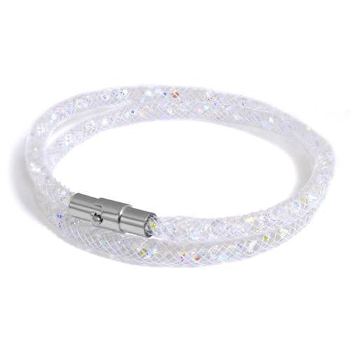 Herspirit Thin Rhinestone Double Wrap Bracelet