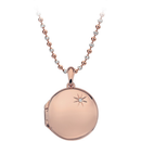 Memoirs Rose Gold Plated Sterling Silver Circle Locket Pendant