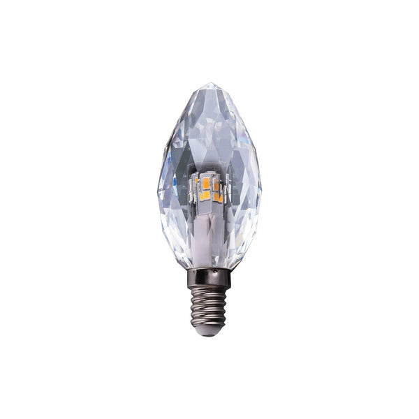 LED 5 WATT CRYSTAL CANDLE E14 230V NON DIMMABLE LAMP