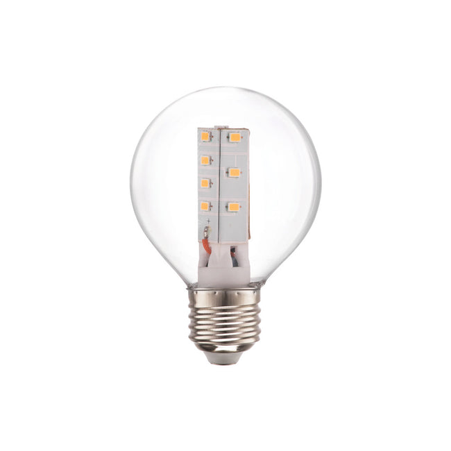 LED 4 WATT CLEAR GOLFBALL E27 230V NON DIMMABLE LAMP