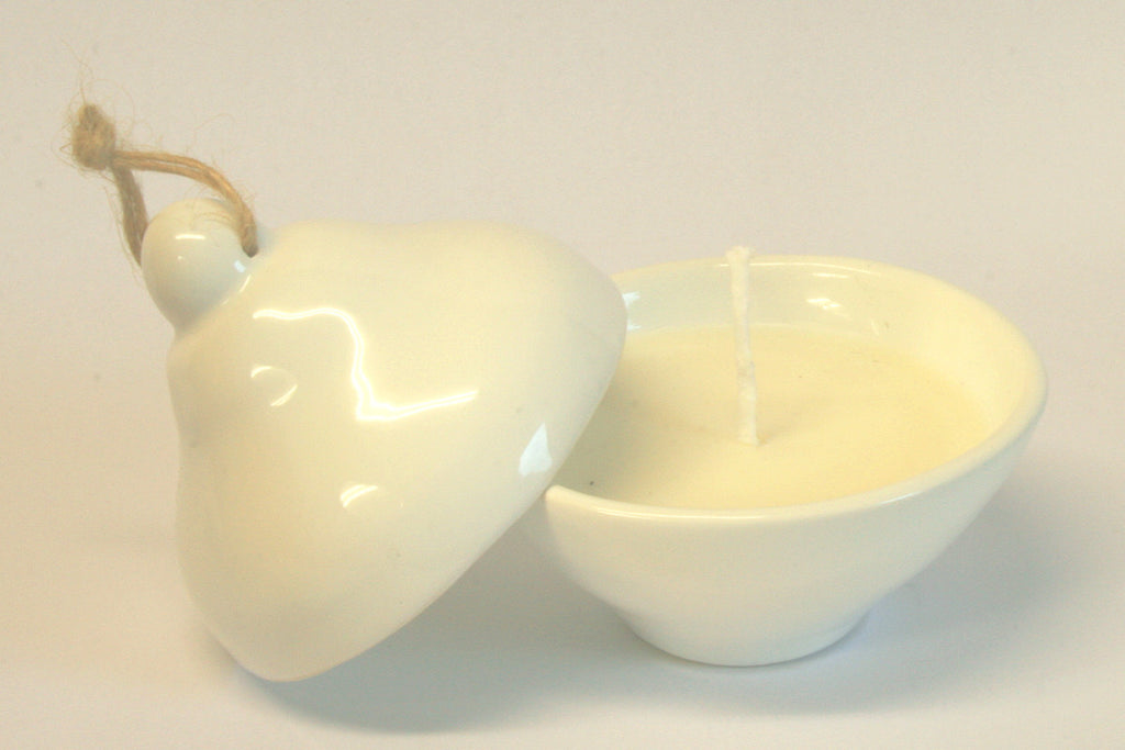 Fragranced Soy Candle White Pinch Pot