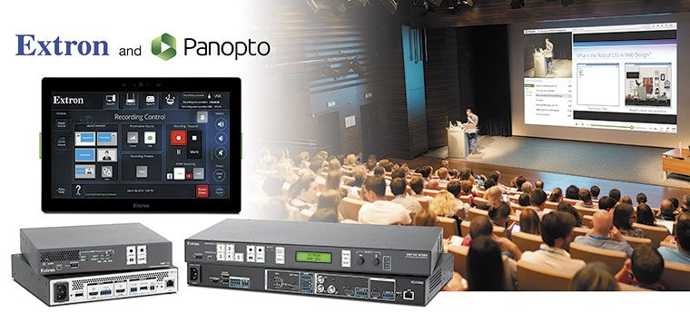 Extron and Panopto Video Content Management
