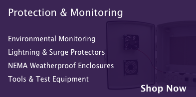 Protection and monitoring, including lightning and surge protectors