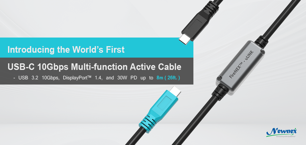 FireNEX-uLINK-10G, USB C to C Multi-function Active Repeater Cable