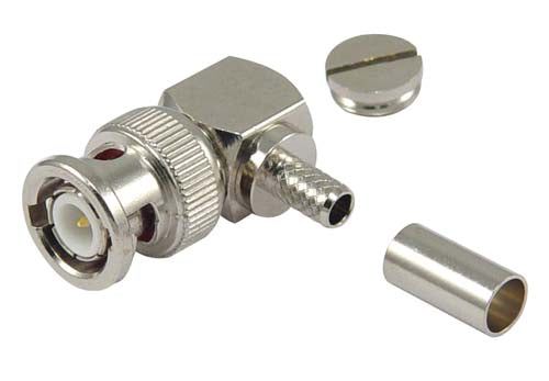 ABM-1702  Connector, BNC Male R/A CRIMP LMR195