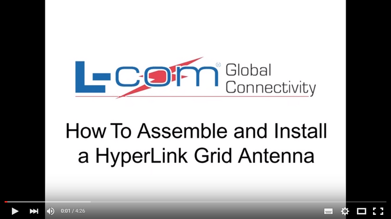 How To Assemble and Install A HyperLink Grid Antenna - L-Com Video