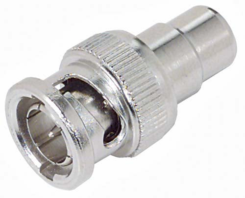 BA018  Coaxial Adapter, 75 Ohm BNC Male / RCA Female