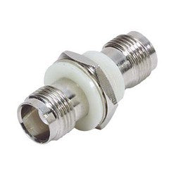 Coaxial Adapter, TNC Bulkhead, Female / Female, Insulated Ground BA1090