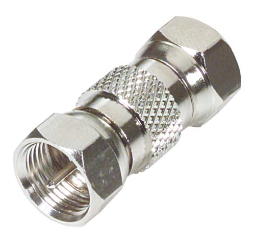 75 Ohm Coaxial Adapter, F Male / F Male BA122