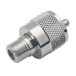 Coaxial Adapter, F-Female / UHF Male (PL259) BA160
