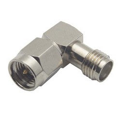 Coaxial 50 Ohm Right Angle Adapter, SMA Female / Male BA20