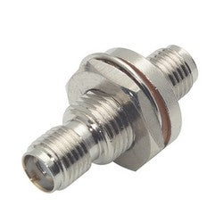 Coaxial Adapter, SMA Female / Female Bulkhead - D-Hole BA21