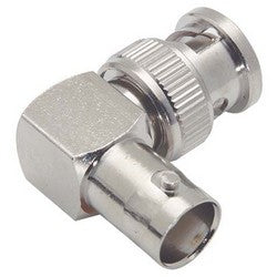 Coaxial 50 Ohm Right Angle Adapter, BNC Female / Male BA240