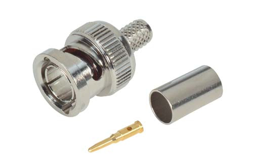 75 Ohm BNC Crimp Plug for RG59 and RG62 (22 AWG CC.) Cable