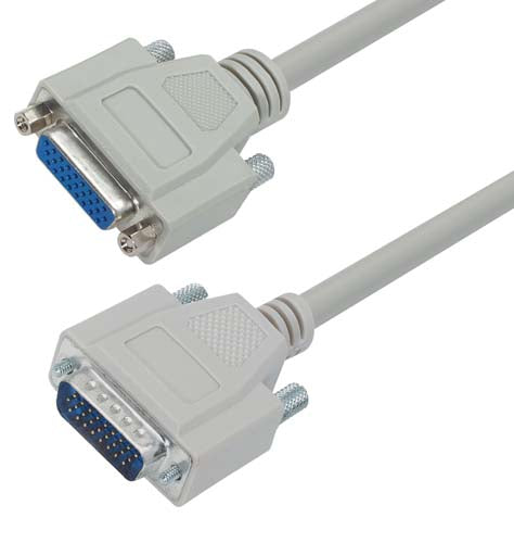 Deluxe Molded D-Sub Cable, HD26 Male / Female, 1 ft